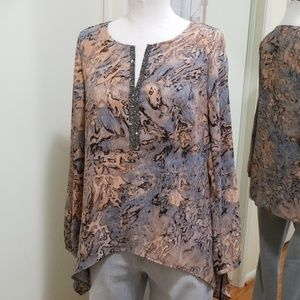 Juicy Couture Hi-Lo Crystal V-Neck Tunic S NWT